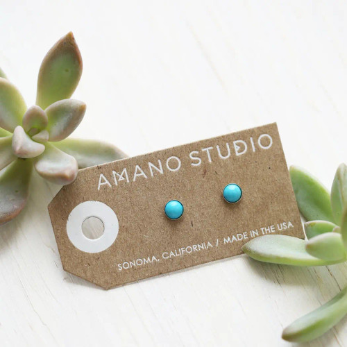5mm Turqouise Howlite Studs