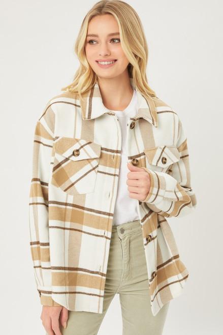Yarn Dye Plaid jacket - Mocha