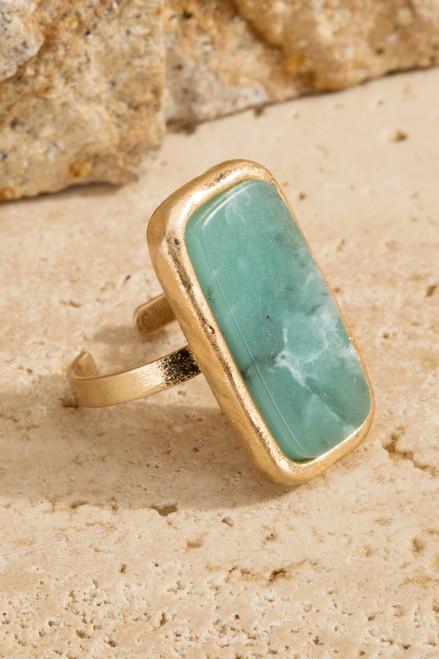 Natural Stone Ring - Amazonite