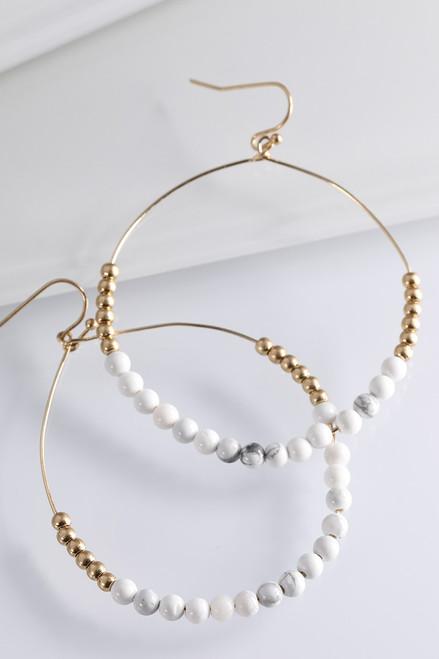 Natural Stone Earrings - Howlite
