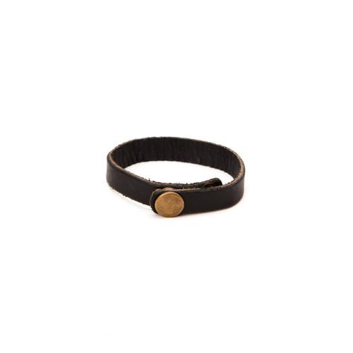 RRL Leather Bracelet - Black