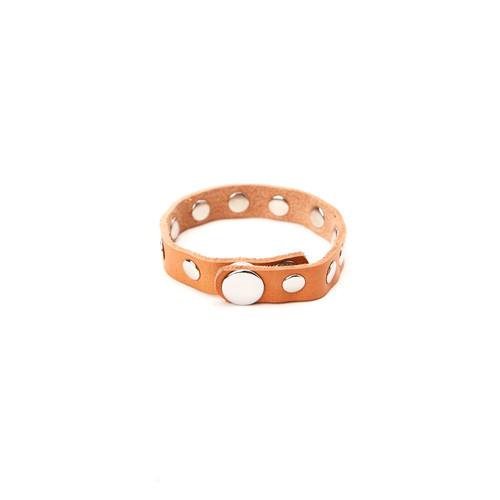 RRL Leather Rivet Bracelet - Natural/Silver