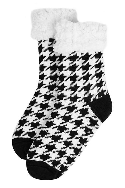 Slipper Socks - Black/White