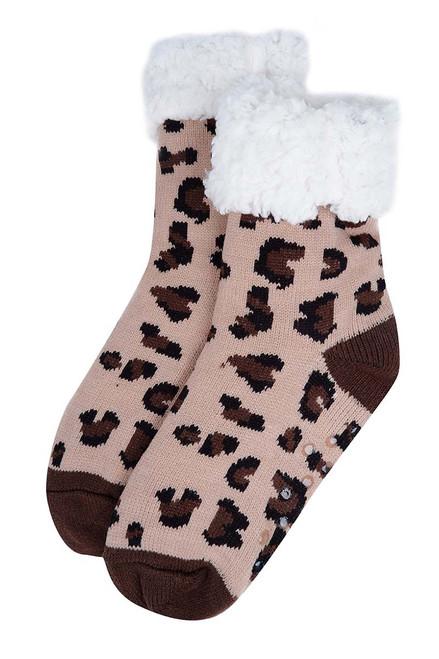 Slipper Socks - Leopard