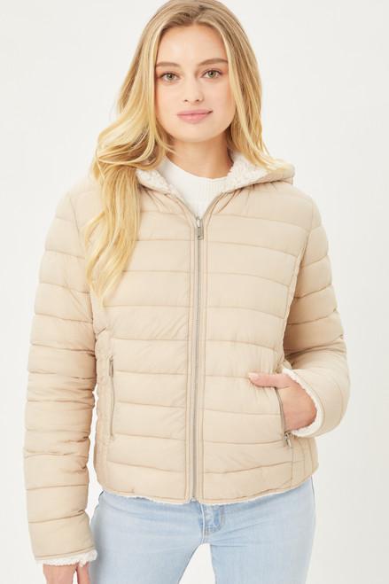 Reversible Sherpa Jacket - Khaki