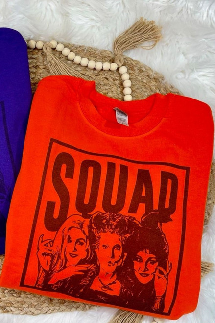 Hocus Pocus Squad Sweatshirt - Orange