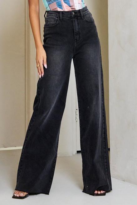 Wide Leg Jean - Vintage Black