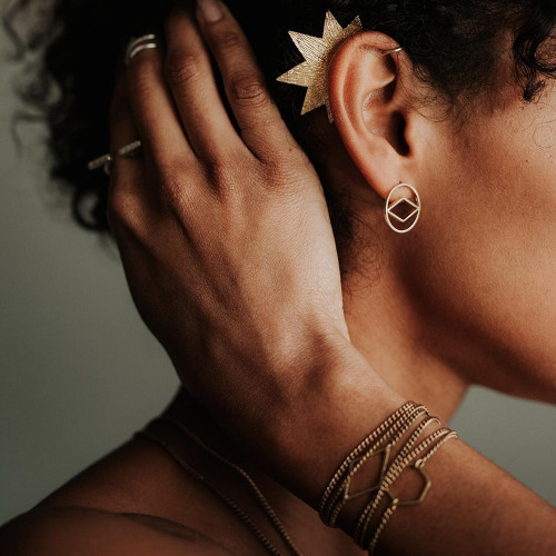 Star Ear Cuff - Brass