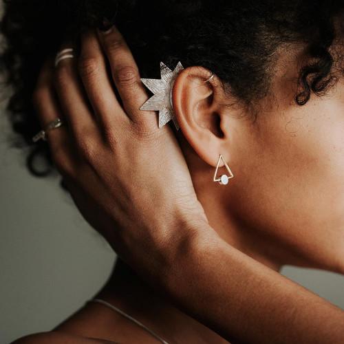 Star Ear Cuff - Silver