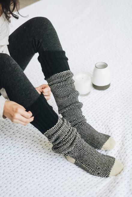 Solstice Socks - Black