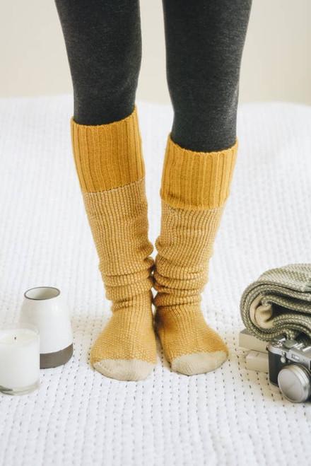 Solstice Socks - Mustard
