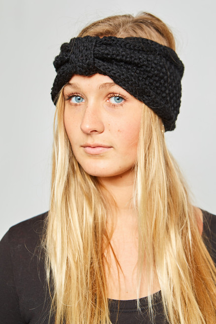 Knit Headband - Black