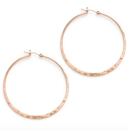 """1.5"""" Hoop Earrings - Rose Gold"""