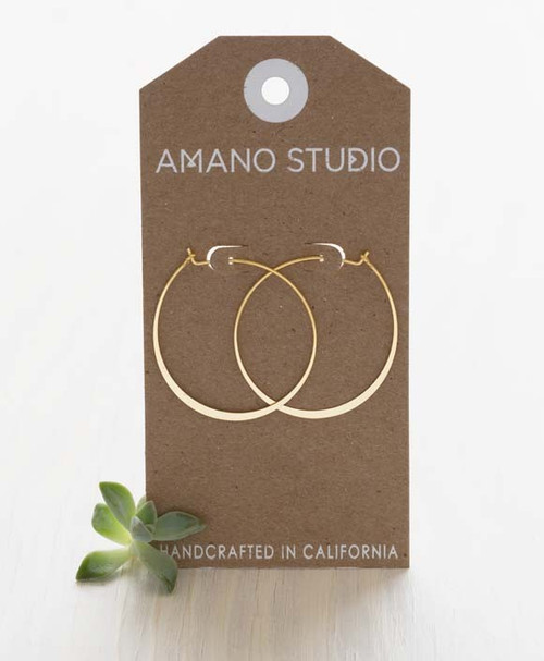 "1.5"" Hoop Earrings - Gold"