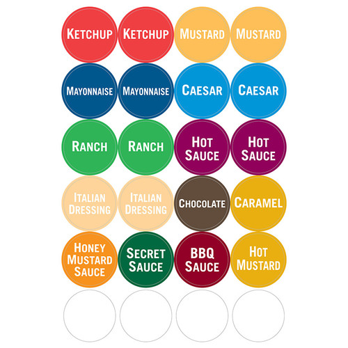 FIFO Bottle Sauce Labels