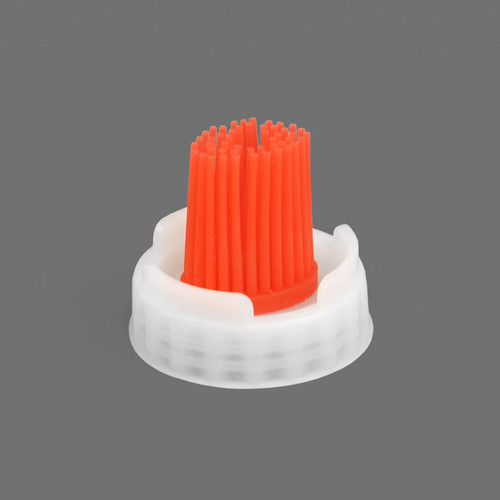 Silicone brush cap for FIFO Bottle. Perfect for dispensing sticky sauces like bbq onto grilled meats and burgers