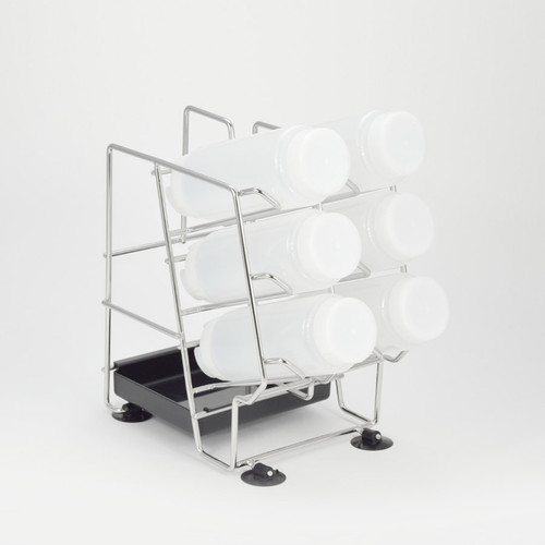 Stainless Steel 6 FIFO Bottle rack for easy access (bottles not included)