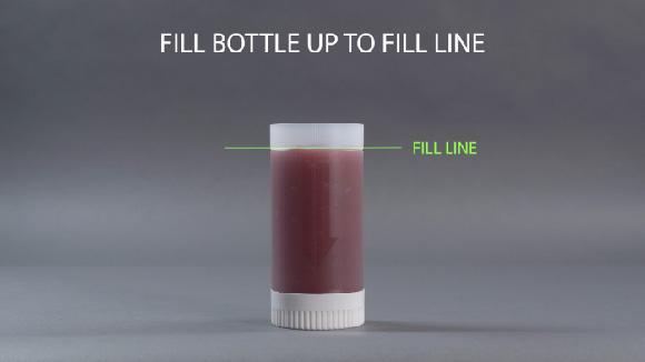 Sauce Gun Bottle Complete Fill Method