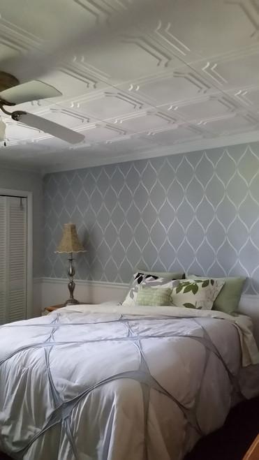 The Virginian #R08 - Foam Ceiling Tile (Package of 8 Tiles), Plain White