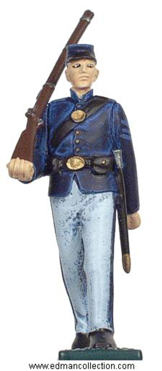 54mm scale Irish Brigade Union Army Foot Soldier pewter figure