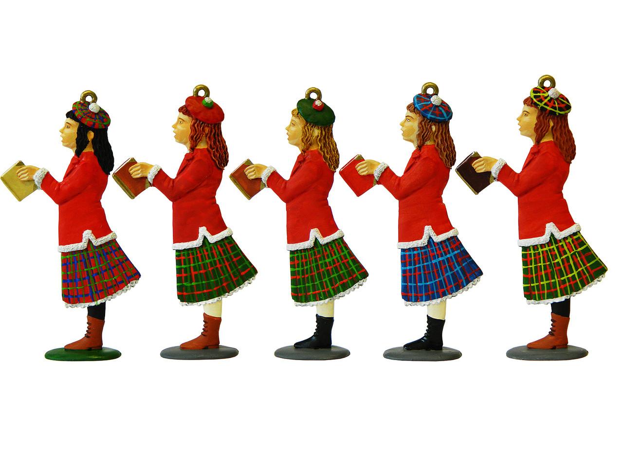 Christmas Carol Singers Figurines.Pa1916 Christmas Decorations Female Carol Singer Mould