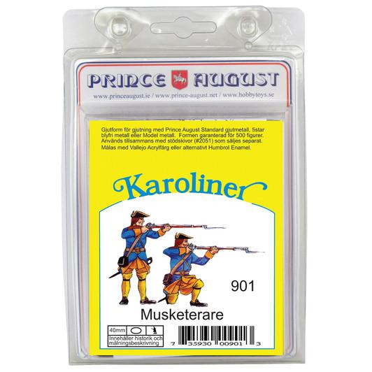 40mm Karoliner 2 Grenadiers casting Prince August mold moulds forms PAS906