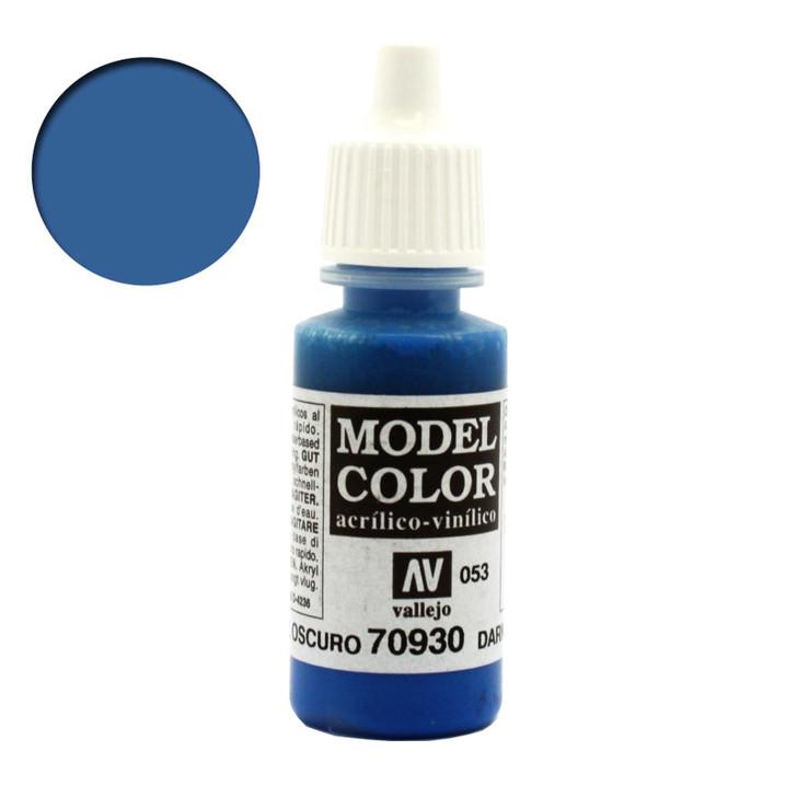 Vallejo Model Color Dark Blue Acrylic Paint 70930