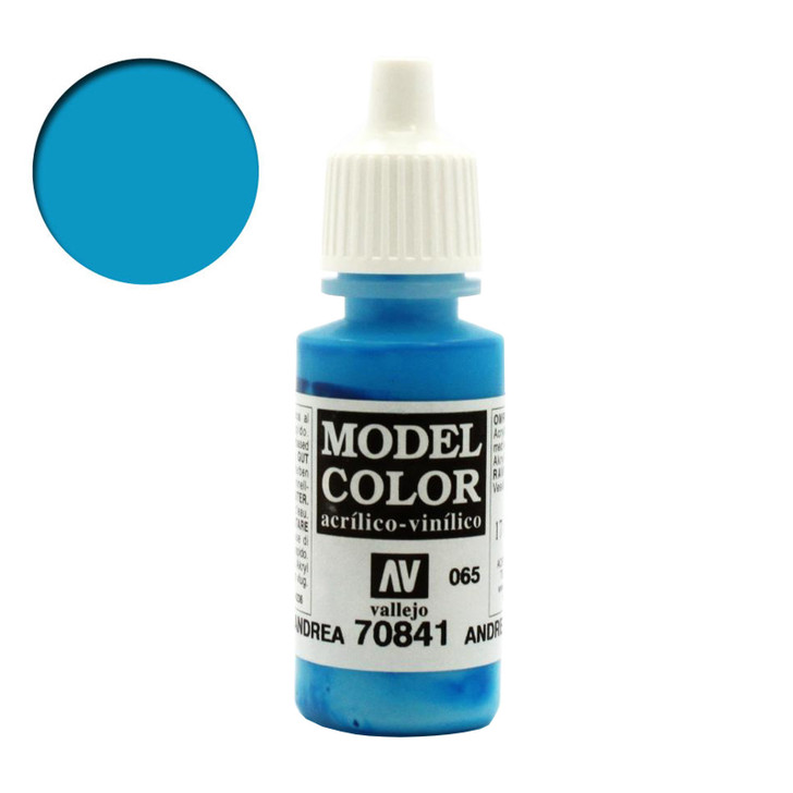 Vallejo Model Color Andrea Blue Acrylic Paint 70841