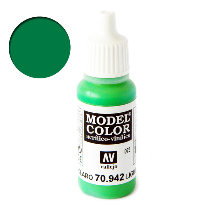 Vallejo Model Color Light Green Acrylic Paint 70942