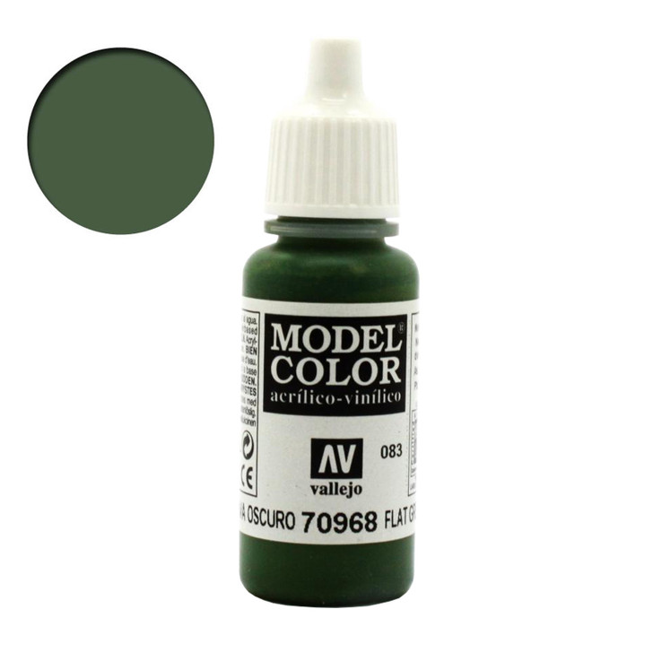 Vallejo Model Color Flat Green Acrylic Paint 70968