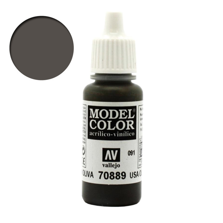 USA Olive Drab Vallejo Model Color Green Acrylic Paint 70889