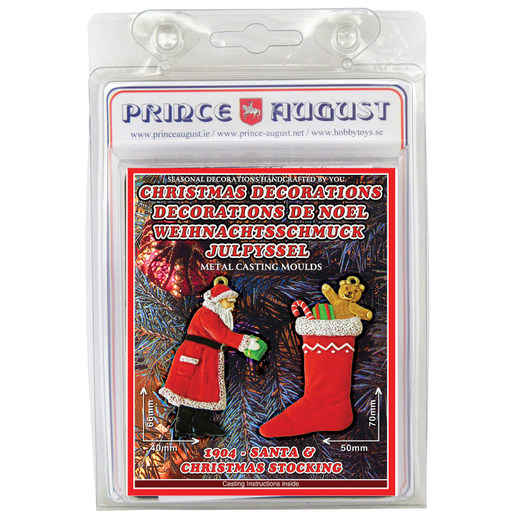 PA1904 Christmas Decorations - Santa Claus and Christmas Stocking label