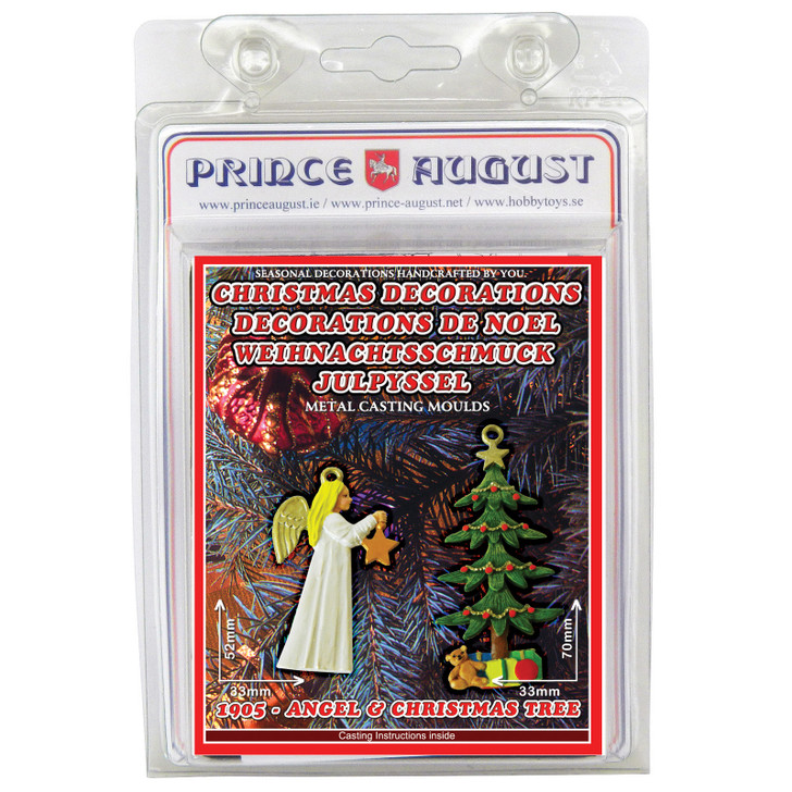 PA1905 Christmas Decorations - Angel with star and Christmas tree label