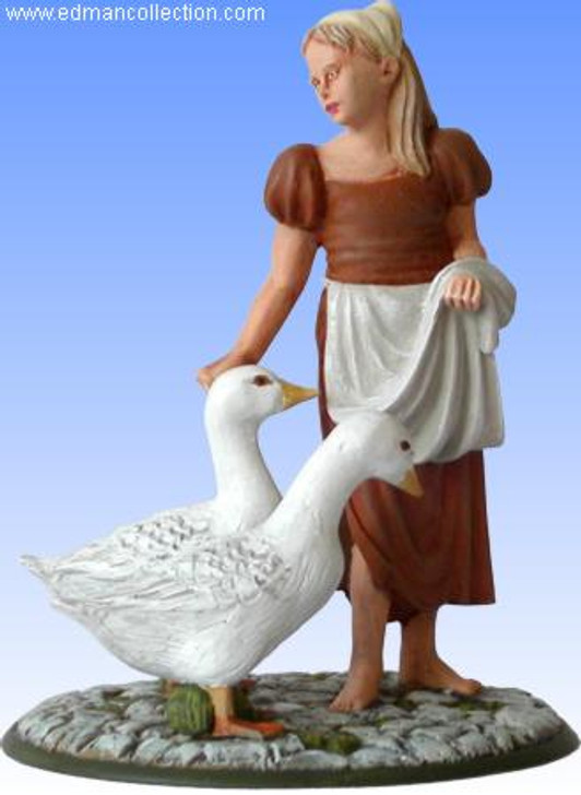 Hand Painted Goose Girl