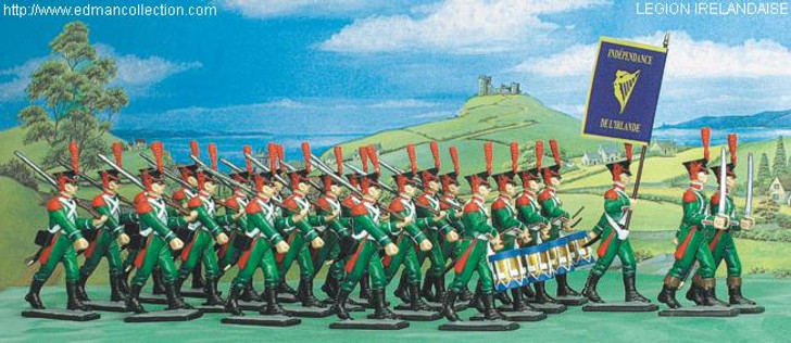 Legion Irelandaise set of Pewter Soldier figurines