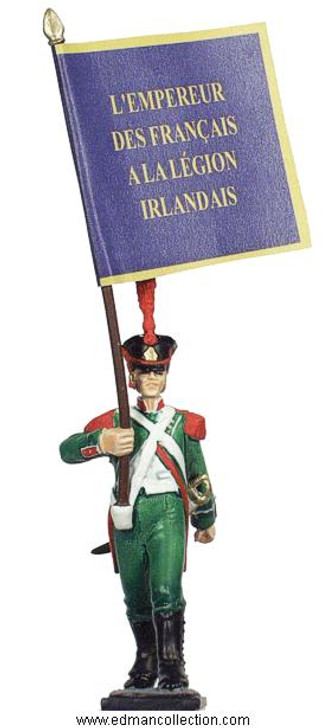 Legion Irlandaise Standard bearer pewter miniature