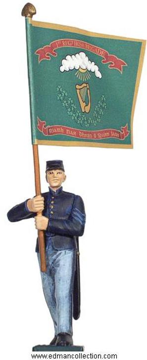 Irish Brigade Union Army Standard bearer pewter figure