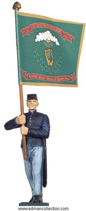 Irish Brigade Union Army Standard bearer pewter figure