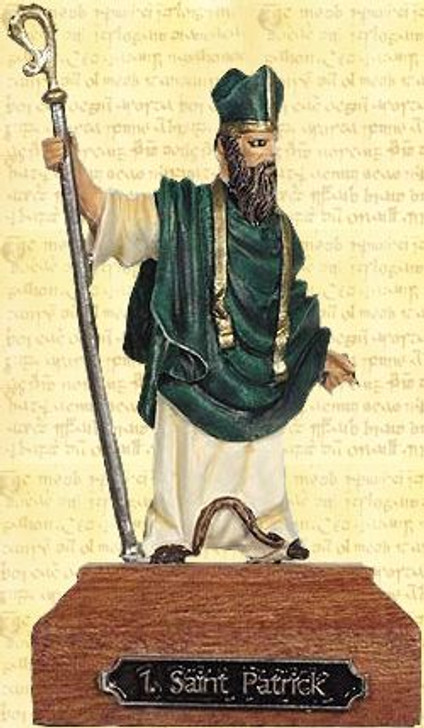 Saint Patrick Painted Pewter Miniature