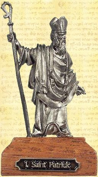 Saint Patrick Pewter Miniature