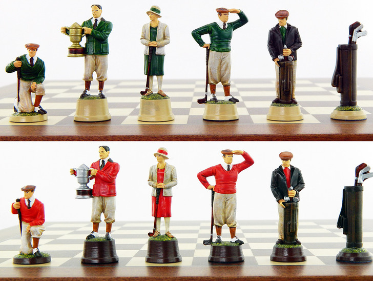Roaring 20's Golf Chess Set - Hand Painted.