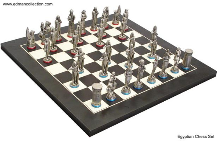 Egyptian Chess Set Antique Finish