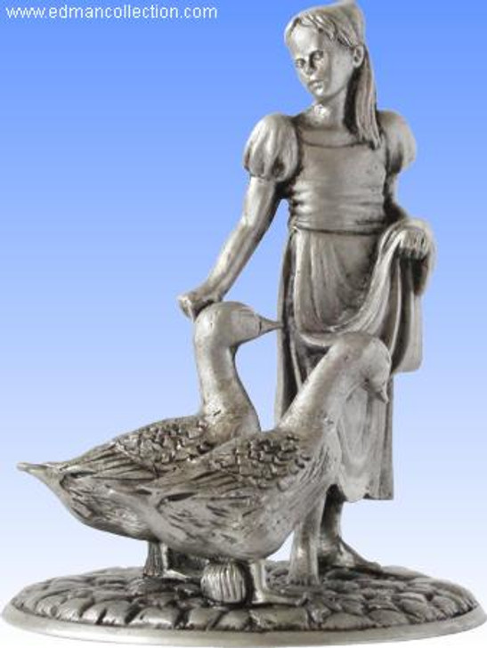 The Goose Girl - Antique Finished Pewter Miniature