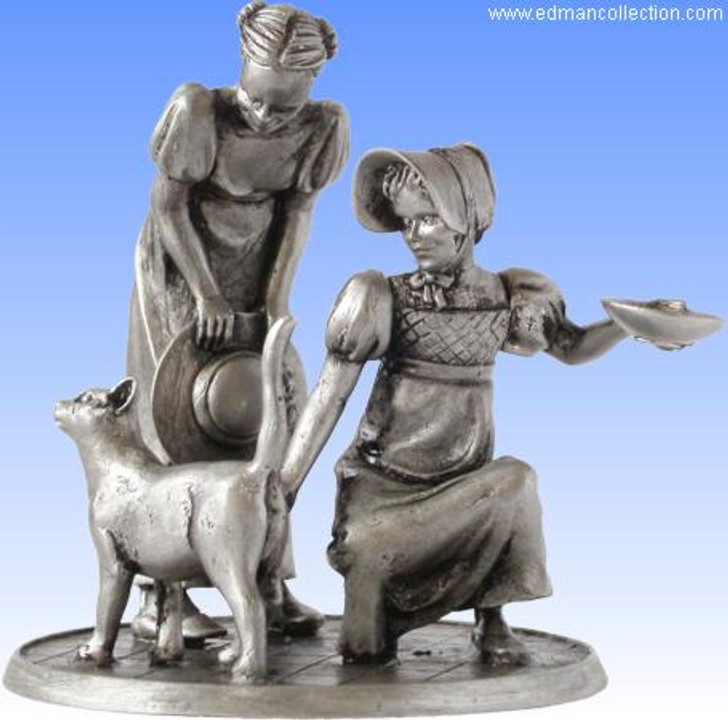 Purrfect Friends - Antique Finished Pewter Miniature