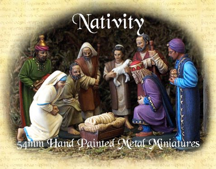54mm Nativity Pewter figures
