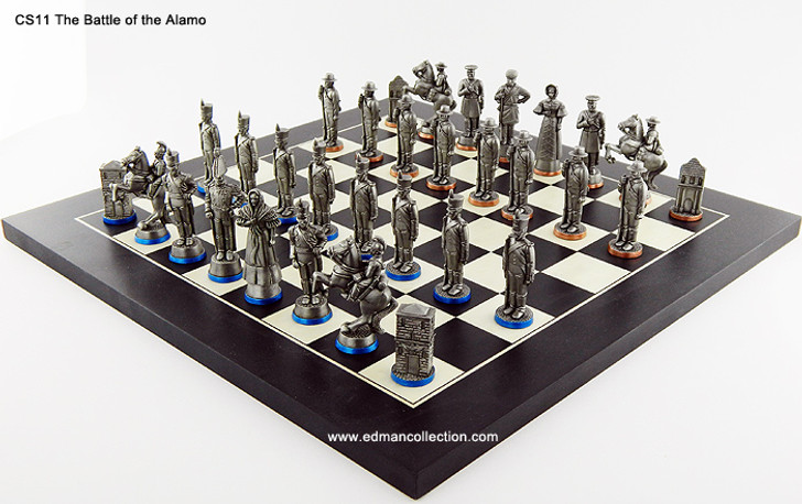 Battle of the Alamo Chess Set.