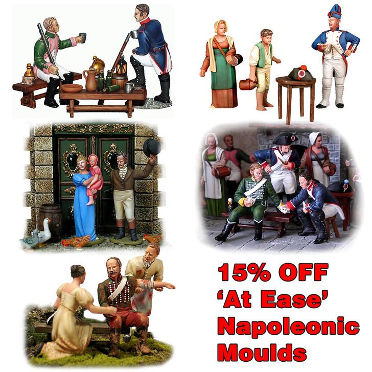 Napoleonic 'At Ease' bundle of 5 sets of moulds.