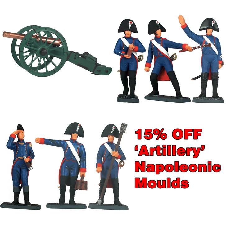 Napoleonic Artillery Bundle of 3 sets of moulds.