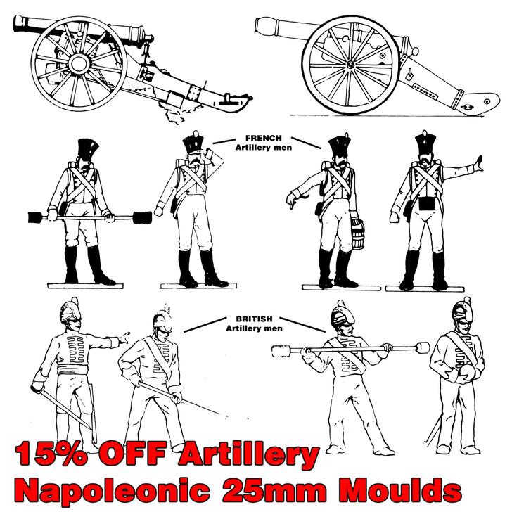 Napoleonic Artillery Bundle of 6 moulds.