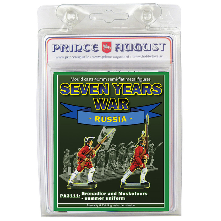 PA3111 Seven Years War Russia: Infantry Grenadier and Musketeer in Summer Uniform blister